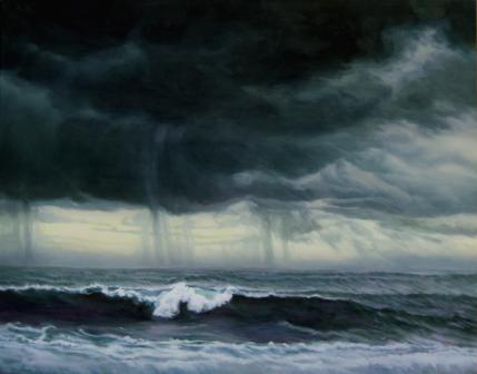 Katherine Kean, Grey Surf Under Summer Storm